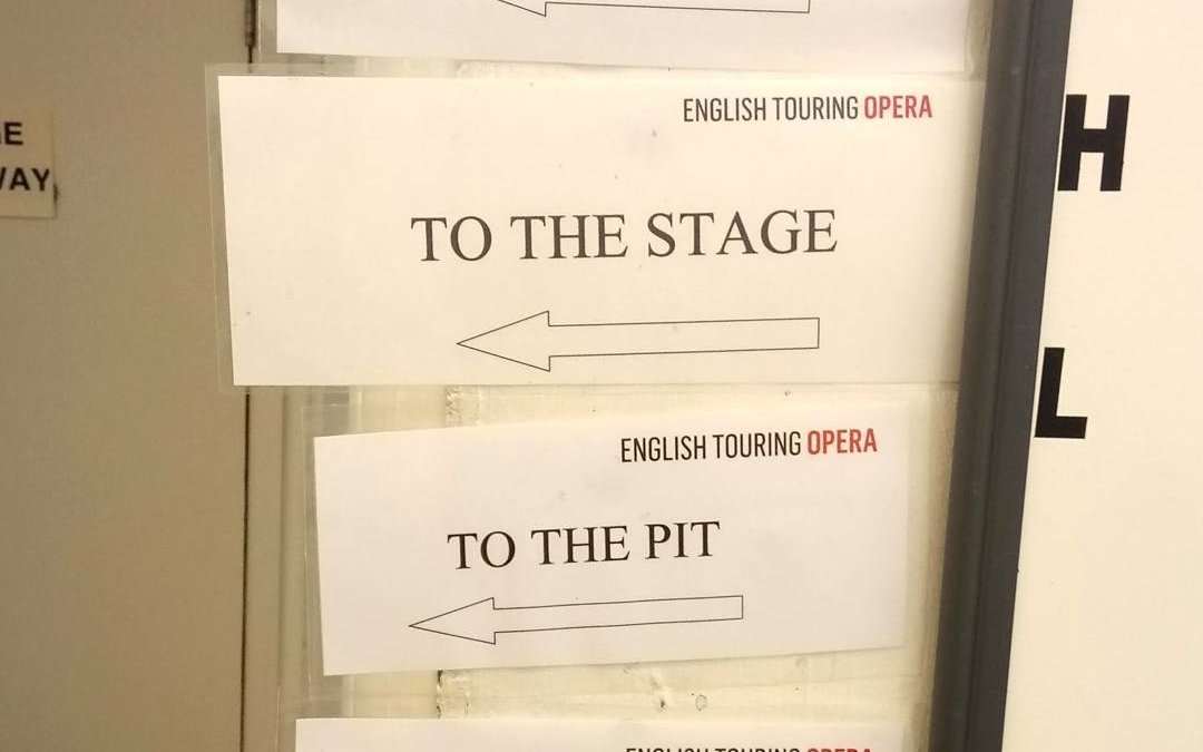 Our backstage area is a bit of a maze, but the team from