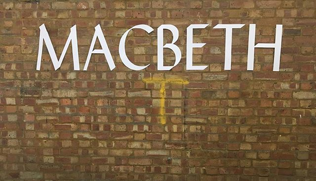 Great day at the @nationaltheatre's Macbeth Rehearsal Room