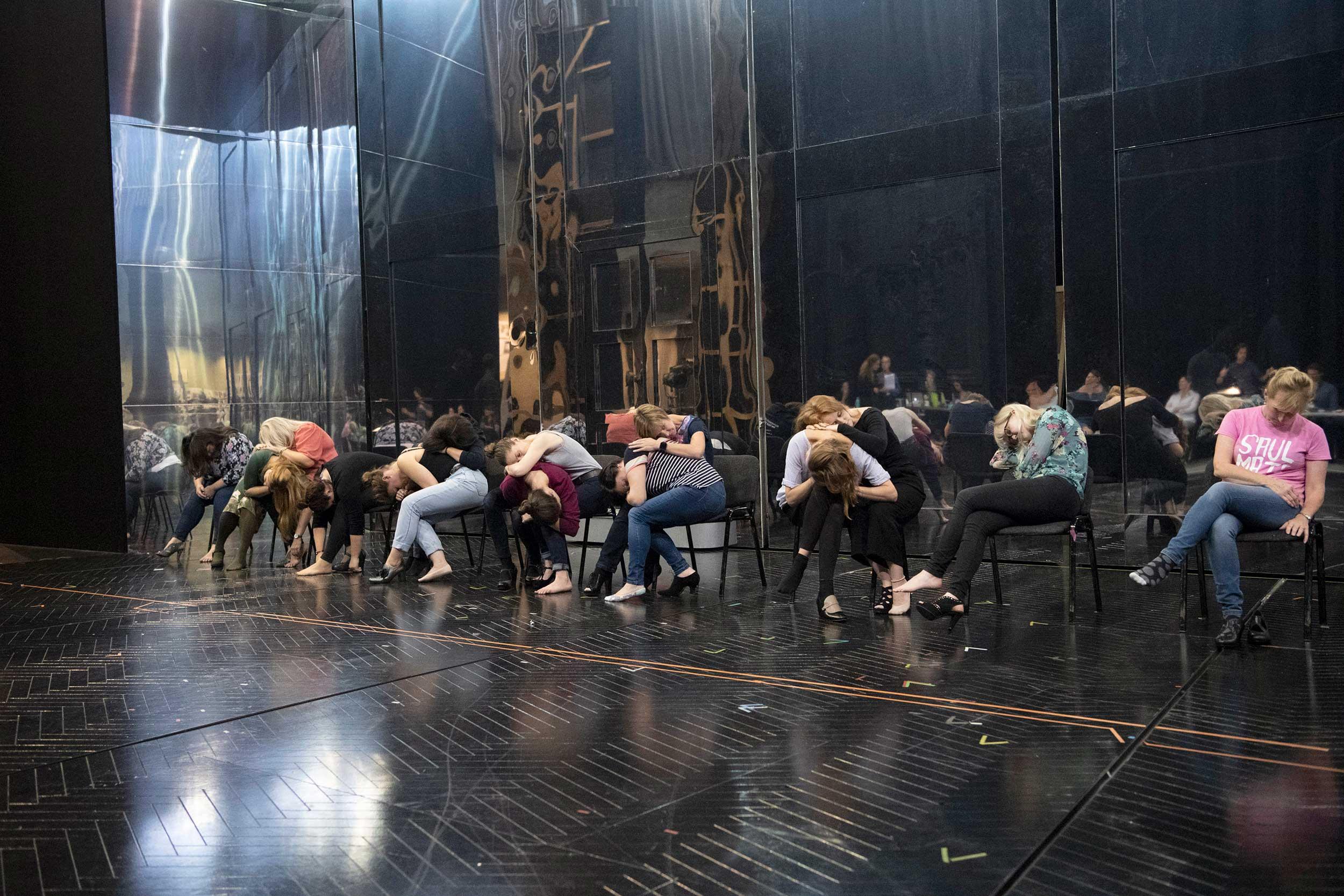 Rehearsal photo from Cendrillon (Cinderella)