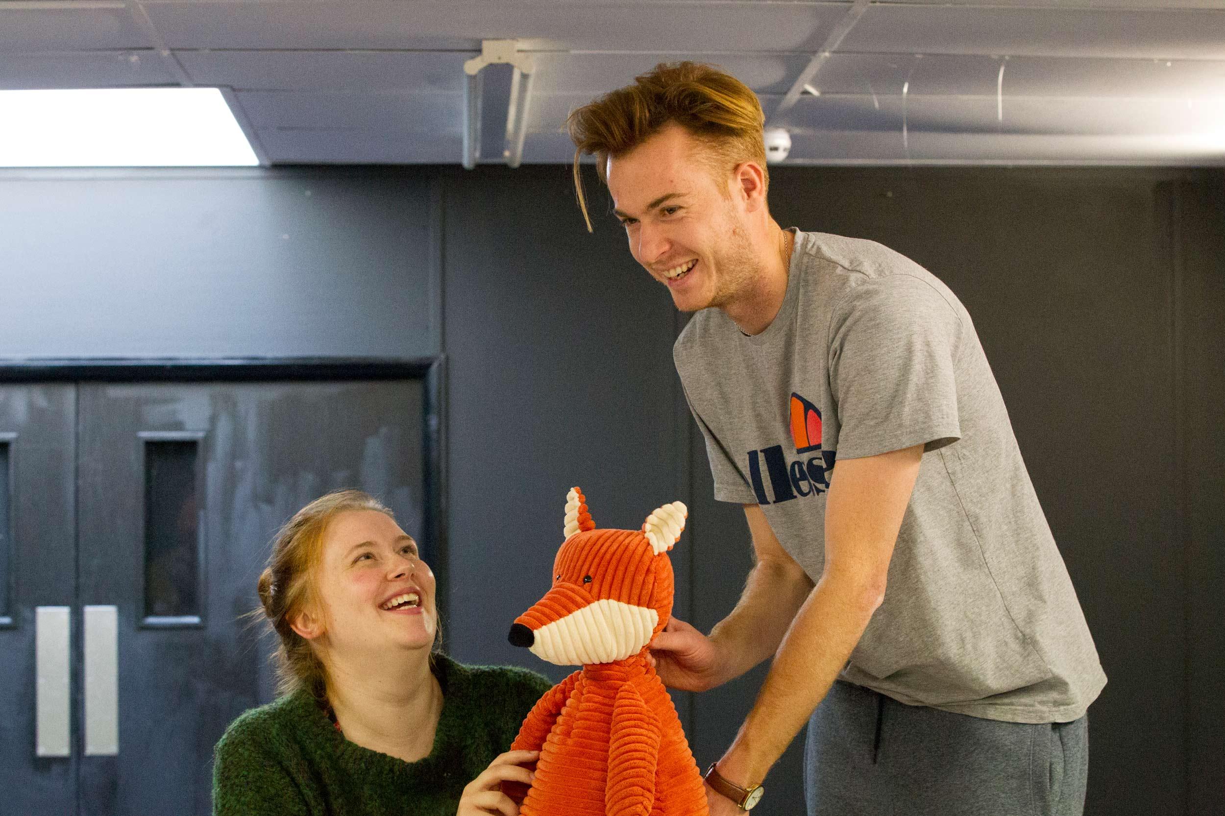 Rehearsal photo from The Naughty Fox