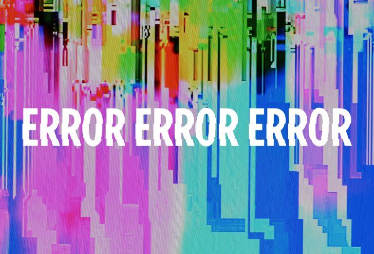 Shakespeare Nation: ERROR ERROR ERROR